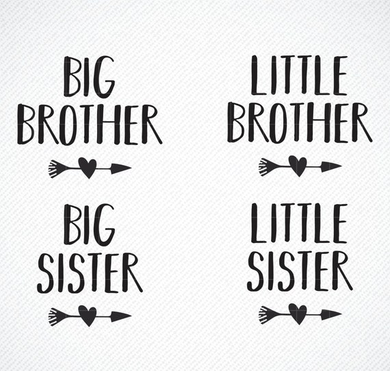 Little Sister png Sibling Cut Files Cricut Little Brother Svg File Silhouette Little Sister Clipart Brother Clipart Little Sister SVG