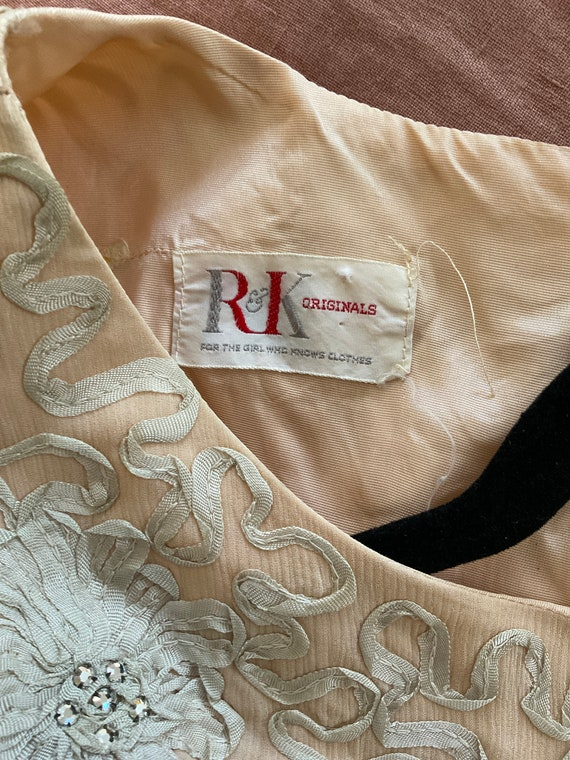 GORGEOUS Vintage Chiffon Dress 50s/60s - image 4