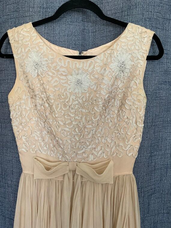 GORGEOUS Vintage Chiffon Dress 50s/60s - image 2