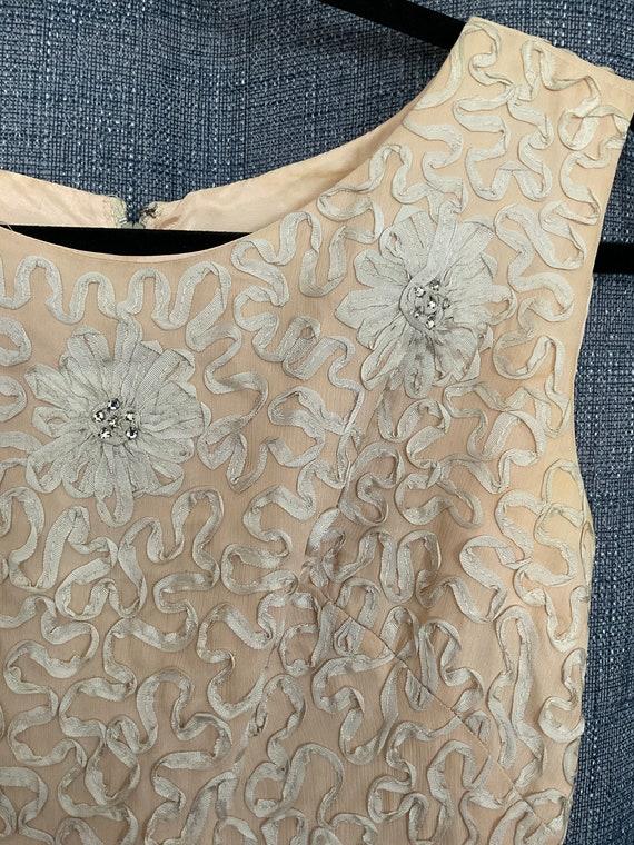 GORGEOUS Vintage Chiffon Dress 50s/60s - image 3