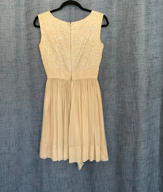 GORGEOUS Vintage Chiffon Dress 50s/60s - image 5