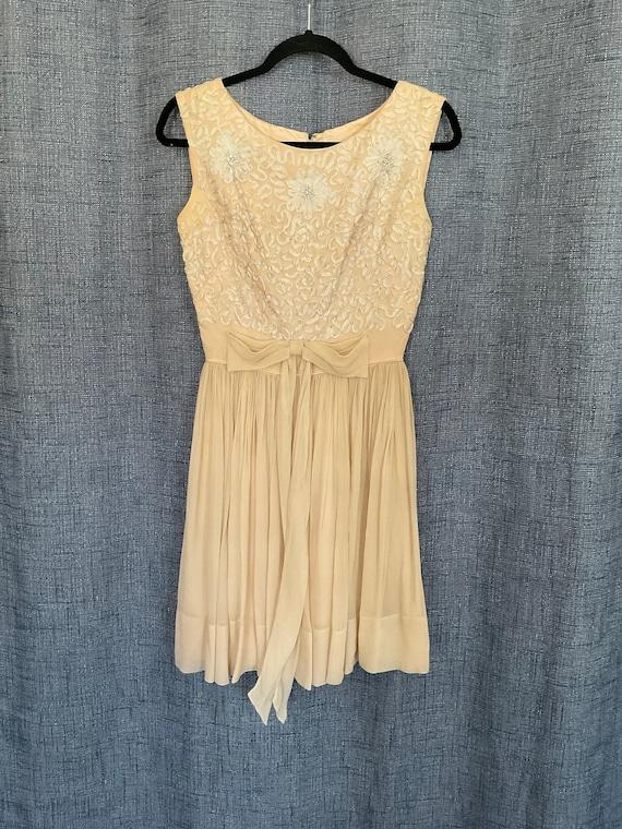 GORGEOUS Vintage Chiffon Dress 50s/60s - image 1