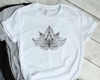 7b28bc298 Lotus Flower Womens T-shirt, lotus flower workout tee