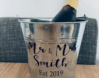 NEW PERSONALISED ICE BUCKET CHOOSE FROM 6 DESIGN WEDDING ENGAGEMENT ANNIVERSARY