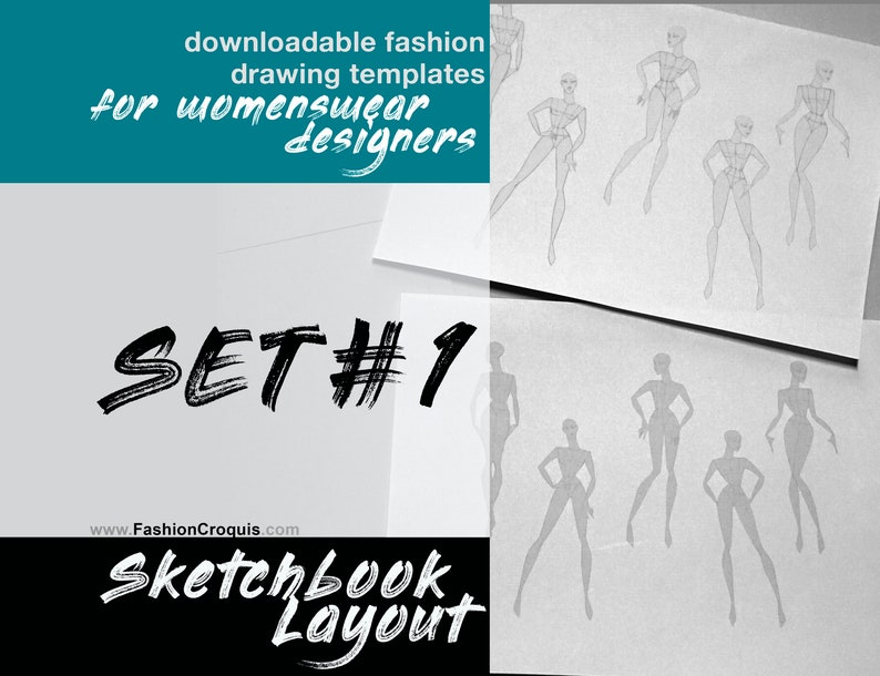 photo relating to Printable Fashion Croquis named Printable Type Sketchbook web page. Lady type croquis.