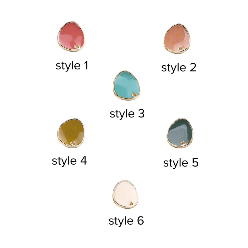 Drop charms earring stud retro multicolor asymmetrical round oval alloy pendant earrings DIY jewelry earring accessories suppliers 210 PCs