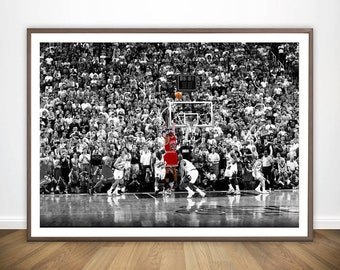 bb09cd4841b74b Sport Star Michael Jordan Last Shot 1998 Colorized Poster Wall Art Wall  Decor Prints Art Poster Paintings For Living Room