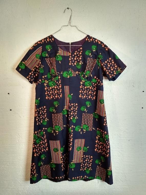 Elegante Abito Camicia Donna 70s Vintage Originale NOT USED Elegant Chemisier Dress Woman 70s Original Vintage