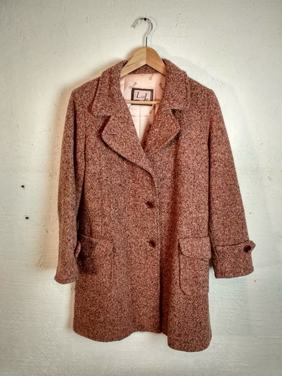 online store 09a7a 32912 Vintage 80's 90's cappotto 80%lana donna LIU JO/ women's wool coat/ winter/  multicolor/ SIZE 46
