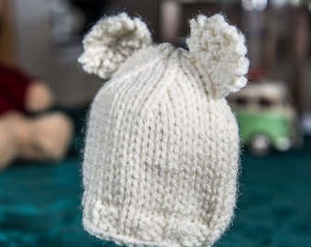 f75bf6b8fb6 Knitted hat with ears
