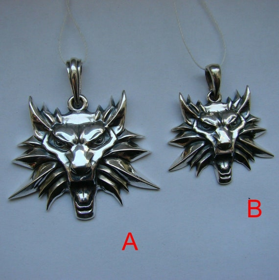 THE WITCHER 3 III WILD HUNT Wolf Médaillon Collier Pendentif Cosplay Accessoires
