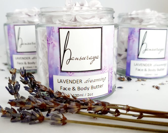 Featured listing image: Lavender Whipped Body Butter, 100% Natural, Organic, Palm Oil Free