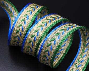 costume galon or et bleu m médiéval 9mm gold braid scrapbooking couture