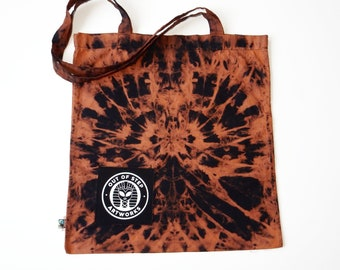 Carrying Bag Cotton Bag Shopping Bag Fairtrade Cotton Tie Dye Batik Spider Fabric Bag Jute Bag Totebag UNIKAT B014