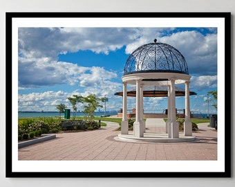 Gazebo in Whiting, Indiana - Framed Photo, Ready-to-Hang