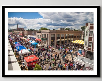 Festival in Whiting, Indiana - Framed Photo, Ready-to-Hang