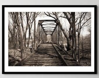 Sohl Avenue Railroad Truss Bridge - Framed Photo, Ready-to-Hang