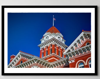 Old Lake County Courthouse - Downtown Crown Point, Indiana - Framed Photo, Ready-to-Hang