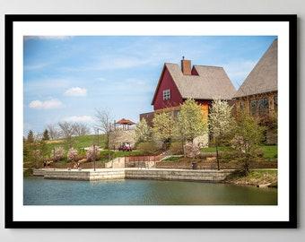 Munster, Indiana Centennial Park - Framed Photo, Ready-to-Hang