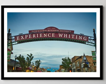 Welcome to Whiting, Indiana Sign - Framed Photo, Ready-to-Hang