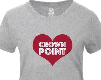 "Womens T-Shirt - ""Love Crown Point"" - Northwest Indiana"