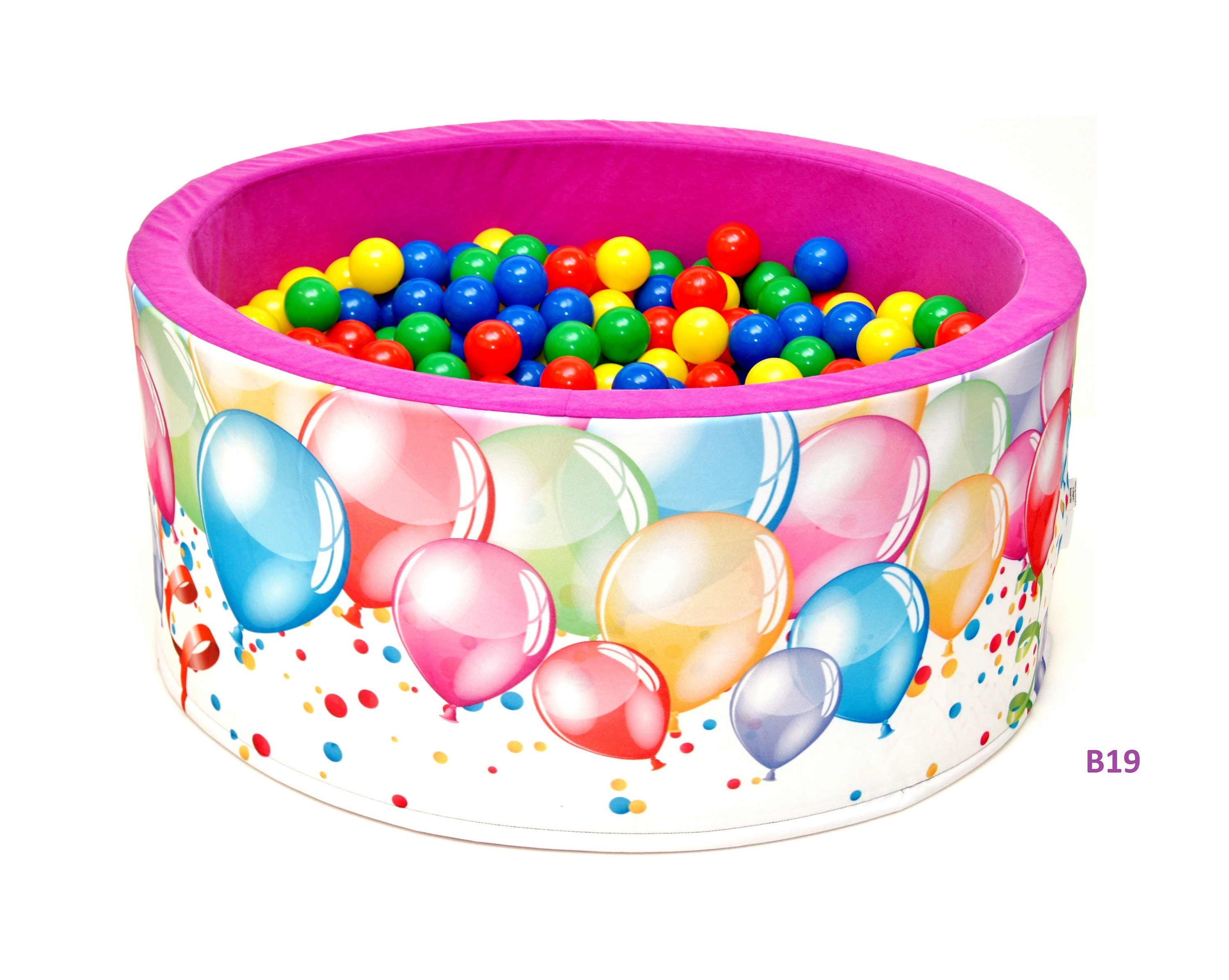 Velvet ball pit-200 balls-90x40-ball pit-Replacement Cover! Baby foam ball pit