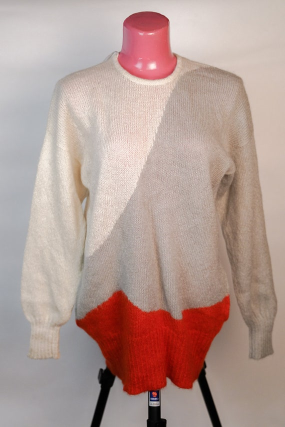 Pullover: gray and white Christian Dior 1973 Pullo