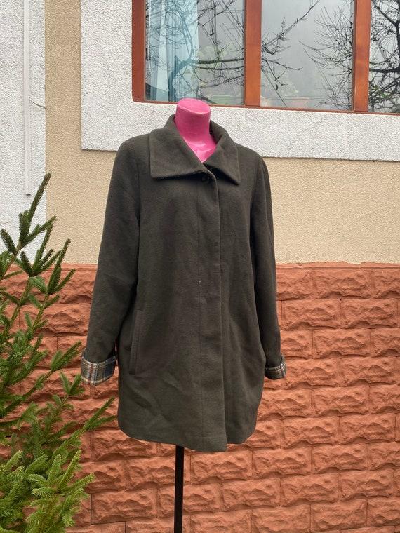 Coat: vintage woolen blue coat