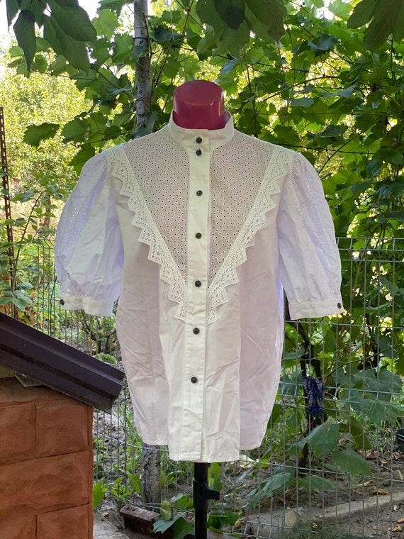 White vintage antique white blouse, shirt