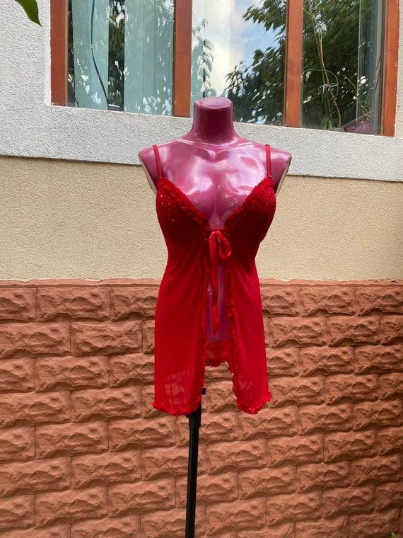 Peignoir: red Short peignoir