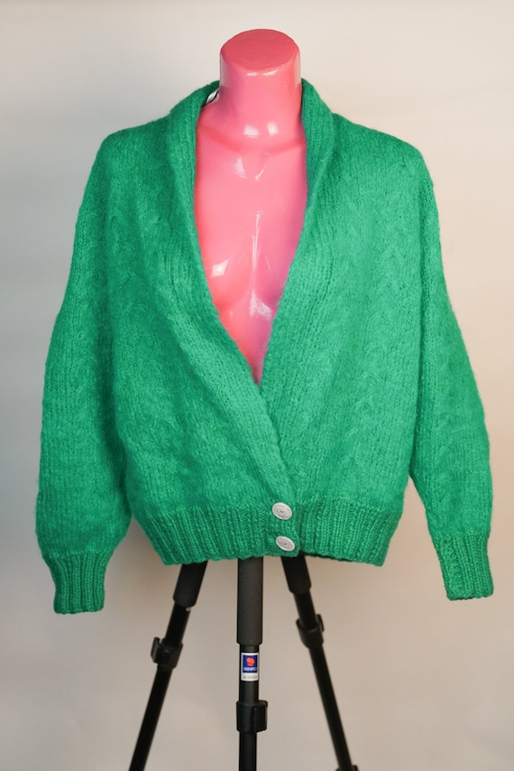 Pullover: Green 100% Wool Pullover