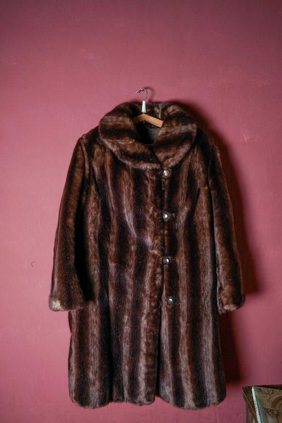 Coat. Fur: Ecological, fake fur