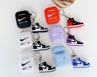 Nike Key Ring AirPods Case, Silicone AirPods Case, Hypebeast Nike For AirPods  Gen 1&2 and Pro Gen