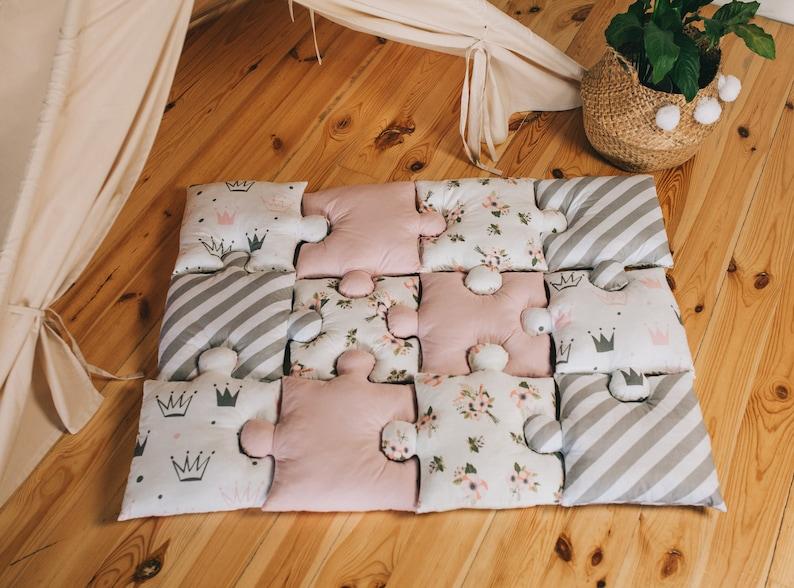 Tapis puzzle bébé - Créatrice ETSY : SunnyHomeStore