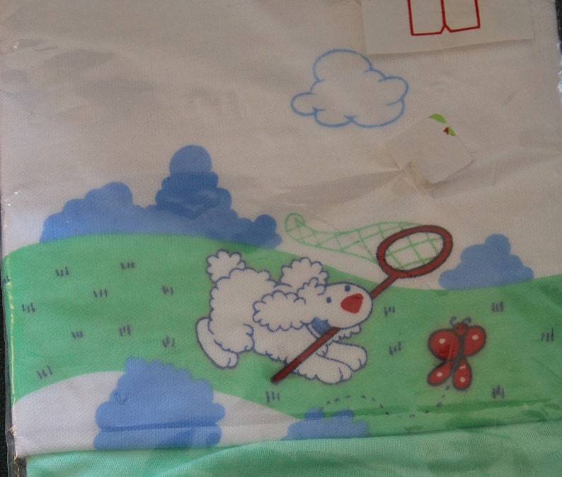 Size 9-12 months New old stock vintage 1970/'s child/'s short set with dog graphic
