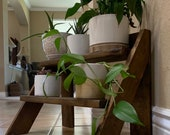 Ladder Style Plant Stand Shelf