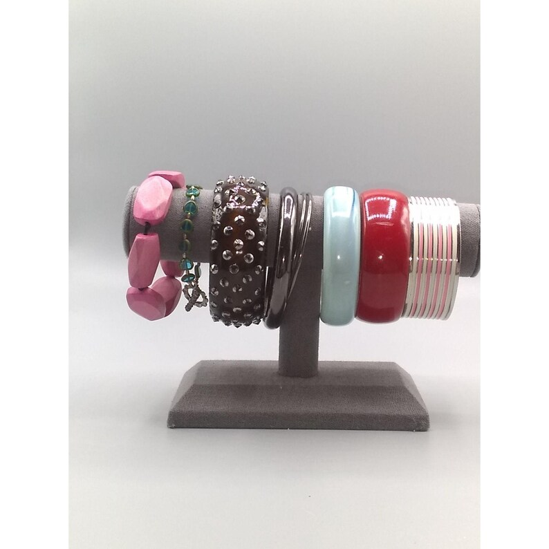 Metal and Stretch Beads Plastic Wooden Bracelet Lot of 9 Bangle Mixed Bundle of Vintage Bracelets