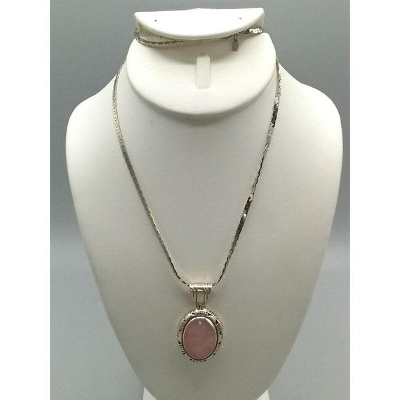Rhodochrosite Pendant Artisan Made Pendant Gold Plated Pendant Gorgeous Pendant Designer Pendant Rose Quartz Pendant Matching Jewelry