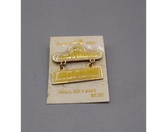 NOS Hang Ten World's Greatest Dad Vintage Enamel Pin NWT