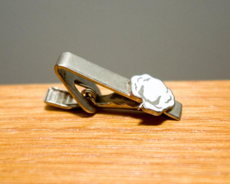 Silver Tone and Enamel Vintage Cyanamid Company Cotton Silver Color Tie Bar Clip