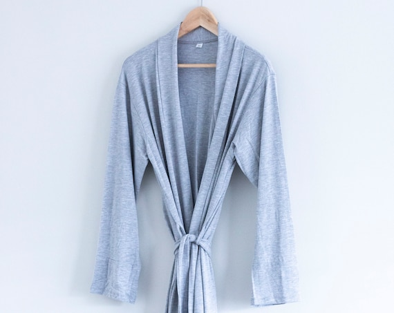 The Bamboo Robe - Grey Housecoat, Cotton Robe, Long Robe, Bridesmaid Robe, Robe, Robes, Robes for Women, robes for Bridesmaids