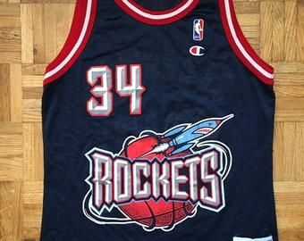 e6dd5a137fe Hakeem Olajuwon Champion Houston Rockets Size 40 Jersey