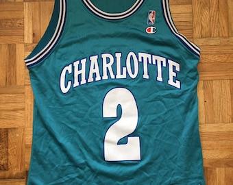26f90365075f95 Larry Johnson Champion Size 40 Charlotte Hornets Jersey