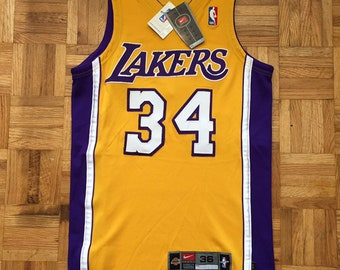 91cf6edf69f Shaquille O'Neal Nike LA Lakers Size 36 NWT Jersey Small