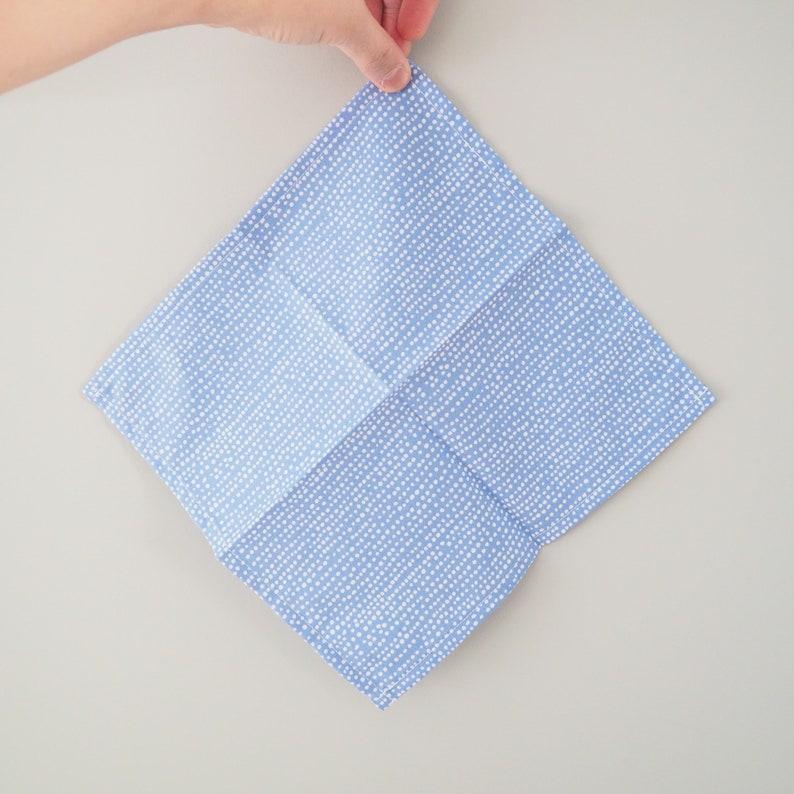 Handkerchief zero waste cloth napkin cotton pocket square orange color block reusable hankie eco friendly cloth tissue