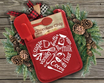 Christmas gifts lick the spoon Life is short Christmas stocking stuffer pot holder