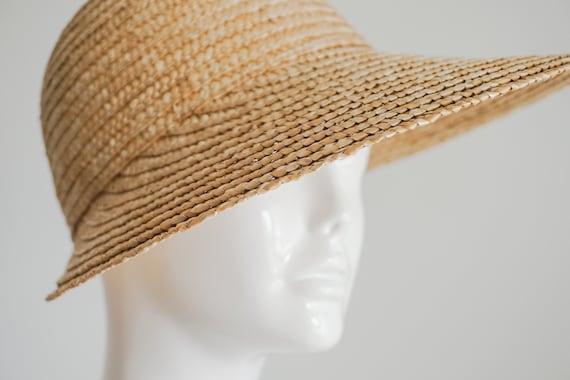 vintage natural straw visor sun hat | women's sun