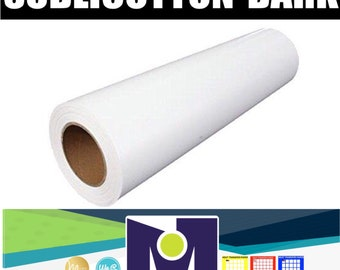 SUBLICOTTON Heat Transfer Paper Roll 24\u201dx50\u2019 For sublimation plotterswith Sublimation inks