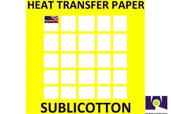 "NEW SUBLICOTTON-DARK HEAT TRANSFER PAPER 25 Sh 8.5/""X11/""  MADE IN USA"