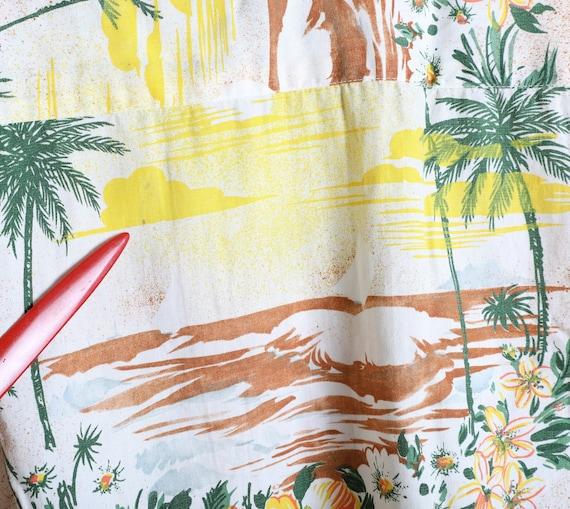 Vintage 1960s Rayon/Cotton Blend Aloha Shirt - La… - image 5